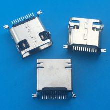 三星贴片12P母座 USB MINI 12pin前插后贴SMT贴板短体三星插座