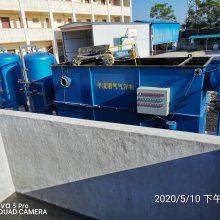 广元市猪场废水处理系统工艺设备安装调试现场,絮凝沉淀装置、过滤装置、一体化设备、消毒设备-竹源