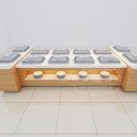 酒店自助餐台艺术餐台组合布菲台wok餐台布菲专业定制 自助餐设备