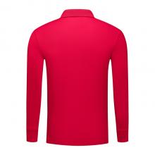 贵州长袖广告T恤订做,翻领广告衫批发订制,ZHIT-501200红色人造棉加厚珠地布240克