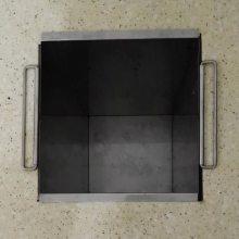 佳悦鑫厨房拉丝全不锈钢 橱柜内隐藏台面嵌入式垃圾桶加厚