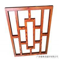餐厅定制仿木纹铝花格-仿古铝合金花格窗厂家