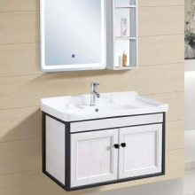 厂家直销全铝浴室柜批发-郑州落地式洗脸盆柜-金利美质美价廉-行业领先