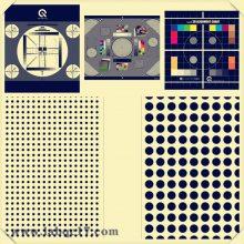 YE0206手机镜头图像眩斑黑白测试图卡镜头IPCamer线数分辨率TE206