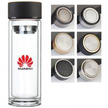 双层玻璃杯定制 广告杯子水杯定制logo 促销开业小礼品杯印字批发定做