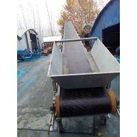 加宽升降爬坡皮带输送机 双排槽钢升降液压皮带运输机