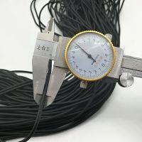 优质国产松紧绳弹力带1-10mm圆松紧环保可打头黑白色现货