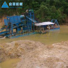 绍兴挖斗淘金船能用电机带动作业吗 哪里能买到二手淘金船