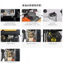 便携式2寸柴油水泵 防汛应急消防泵