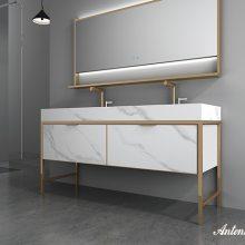 设计师喜欢的浴室柜卫浴品牌、安东尼奥-轻奢极简新中、洗手盆洗脸盆