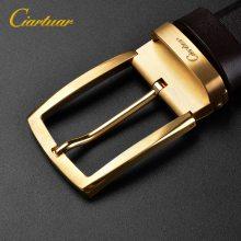 格菱皮具卡西亚 品牌男士皮带批发Y816真空电镀铜扣批发