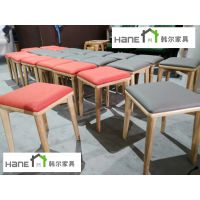 上海餐厅家具厂 餐厅实木桌椅定制 韩尔简约实木品牌