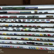 万弘手办玩具铝合金展示柜 淘公仔收纳盒 火车模型 1:160 模型展示架 防尘 带灯