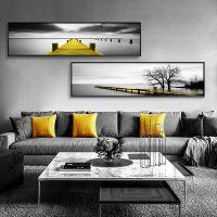 宁静之美 黑白客厅装饰画现代简约墙画背景墙床头壁画风景挂画