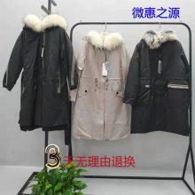 2019反季款气质设计师款中长加厚白鸭绒羽绒服杭州四季青品牌女装