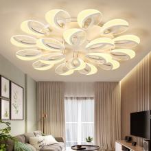 超薄客厅大灯水晶灯效果图家用灯具安装餐厅风扇吊灯卧室吸顶灯