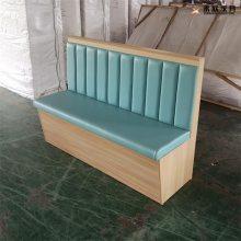 成都简约风格板式休闲小吃餐厅卡座沙发
