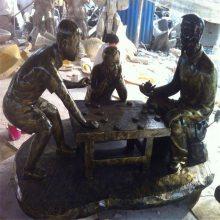 广东玻璃钢乡村文化人物雕塑 佛山联尖玻璃钢仿铜人物雕塑