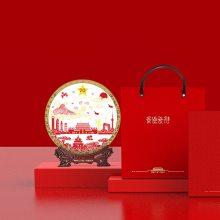 供应景德镇建国70周年礼品陶瓷纪念盘工艺摆件,新中国成立70周年瓷盘