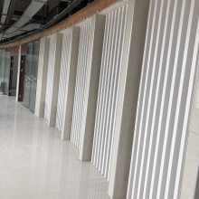 铝方通室内吊顶装修天花-U型铝格栅方管装饰吊顶
