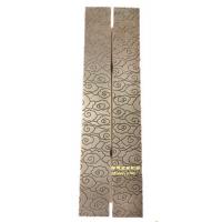 锢雅精雕铝艺双面雕刻花纹仿古铜铝板雕刻拉手