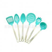 厂家生产厨房硅胶餐具食品级耐高温硅胶漏勺不粘锅锅铲可定制