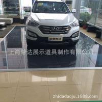 上海车展超薄水晶玻璃地台厂家直销汽车4S店高档超薄玻璃地台制作