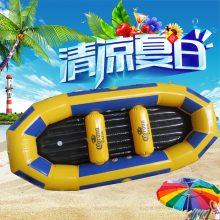 厂家直销加厚新款充气船 儿童皮划艇水上游乐设施 漂流船可定制 水上乐园玩具设备哪里有卖