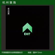 厂家直售西安贵阳地铁站楼梯不锈钢蓄光指示标识 无需电源紧急照明逃生