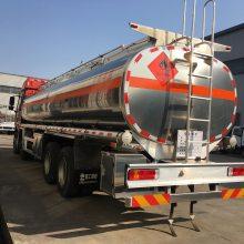 一汽解放铝合金油罐车 解放J6前四后八油罐车厂家 价格多少钱