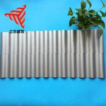 广告位门头装饰波浪板18-76-836型横铺装铝镁锰圆波瓦楞墙面板