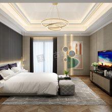 龙湖椿山装修设计|椿山联排别墅装修案例|轻奢设计方案效果图
