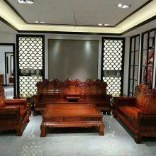 红木办公沙发类家具 刺猬紫檀和谐办公沙发专用