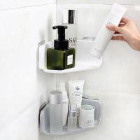 洗手间置物架洗漱台转角沥水壁挂免打孔洗漱架子三角形浴室收纳架