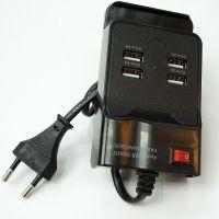 多功能手机充电器 4USB接口充电器 大功率多用途万能充电器