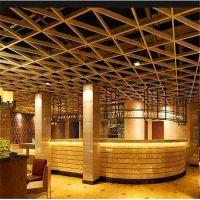 根据项目要求定制不同规格的铝格栅天花吊顶形状颜色多样