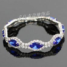 欧美新款首饰时尚方形水晶手链速卖通热销货源 厂家直销高档饰品