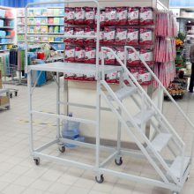 金乡仓储专用登高车 专业厂家设计制作 登高梯 金乡移动平台 超市取货梯