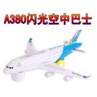 新品380电动发光音乐飞机 闪光万向车子儿童男生玩具礼物批发