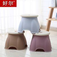 好尔塑料小凳子加厚矮凳时尚创意换鞋凳家用儿童小板凳圆凳茶几凳