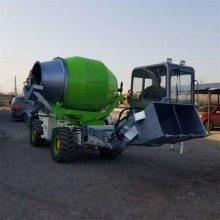 1-4方装载机式自动上料搅拌车,180度旋转