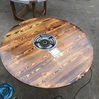 佛山市兴泰德盛实木餐桌椅订做 火烧木火锅餐桌 品质保障欢迎选购