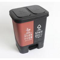 分类垃圾桶双桶脚踏缓冲入户分类桶家庭办公室垃圾桶入户可定制垃圾桶