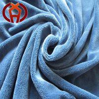 100%涤纶素色珊瑚绒印花针织面料