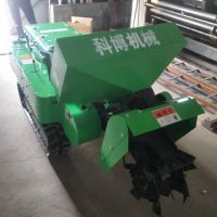 科博履带式开沟机柴油回填机多功能施肥机旋耕锄草机