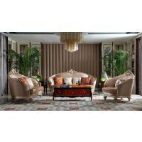 法式新古典轻奢实木家具客厅VA08-1恒怡1+2+3位组合沙发 别墅豪宅全屋定制家具厂