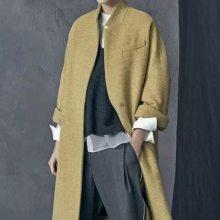 百格丽双面羊绒大衣韩版中长款风衣外套杭州品牌女装折扣批发
