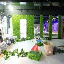 酒吧吧台仿真草装饰露天咖啡馆地面美观绿化铺设草坪店面墙壁新装修绿植墙背景墙工程