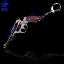 金属模型枪钥匙扣定制左轮手枪模型挂件定制迷你仿真枪模型不可发射