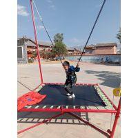 折叠商用弹簧蹦极床 广场公园跳跳床蹦极新款 儿童游乐设施蹦极蹦床设备